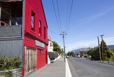 New Zealand`s Port Chalmers Streets Royalty Free Stock Photos
