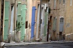 Empty street in Marseille,France Stock Photos