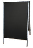Empty street menu blackboard stand isolated. Royalty Free Stock Photos