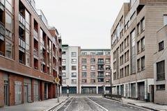 Empty street. Modern empty street in Dublin Royalty Free Stock Photography