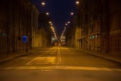 Empty street at night Stock Photo