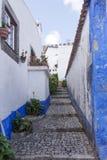 Empty street in Obidos Royalty Free Stock Photos