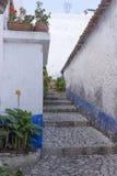 Empty street in Obidos Stock Image