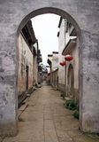 Empty Street Of An Ancient Town In Anhui Province In China Royalty Free Stock Photo