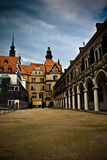 Empty street in the old center of Dresden Royalty Free Stock Photo
