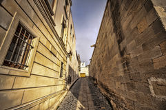 Empty street in old city of Baku, Azerbaijan. Old city Baku. Inner City buildings. Royalty Free Stock Images
