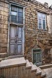 Empty street in old city of Baku, Azerbaijan. Old city Baku. Inner City buildings. Royalty Free Stock Image