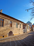 Empty street in the old Evpatoria, Ukraine Royalty Free Stock Image