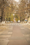Empty street in old town: beautiful autumn view Royalty Free Stock Images