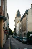 Empty street of the old town Limoges Stock Images