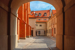 Empty street in the Old Town, Warsaw, Poland Stock Image