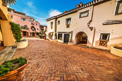 Empty street in Porto Cervo Stock Photos