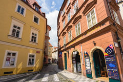 Empty street of Praha Royalty Free Stock Photo