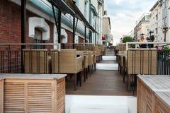 Empty Street Restaurant