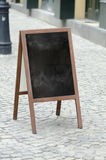 Empty street restaurant menu blackboard Royalty Free Stock Image