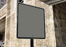 Empty Street road indicator in downtown Boston Royalty Free Stock Photos