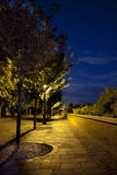 Empty street at twilight. This is a empty street at twilight in the Royal castle,Budapest Royalty Free Stock Images