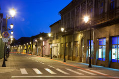 Empty street - view by night Stock Photography