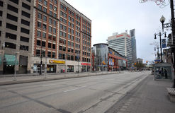 Empty street in Winnipeg Stock Photo