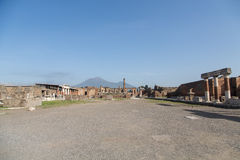Empty Streets of Ancient Pompeii Stock Photo