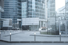 Empty streets of the business city center. Stock Image