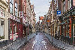 Empty streets of Chinatown of Amsterdam stock photo