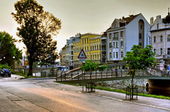 Empty streets in Sarajevo, Bosnia Herzegovina Royalty Free Stock Images