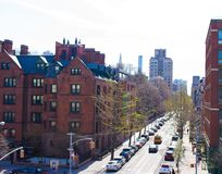 Empty streets in West Village at New York Royalty Free Stock Image