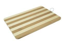 Empty striped hardboard over white Royalty Free Stock Photo