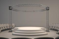 Empty studio stage white Royalty Free Stock Photos