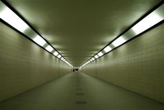 Empty subway below train station. Stock Images