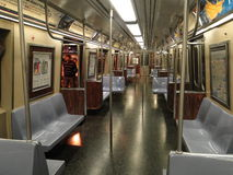 Empty Subway car. No passengers Stock Image