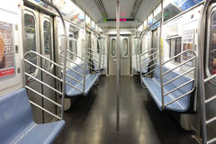 Empty New York City Subway Car stock photo