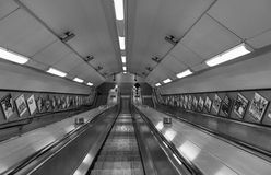 Empty subway escalator Royalty Free Stock Image