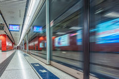 Empty subway platform Stock Photo