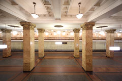 Empty subway station Royalty Free Stock Photo