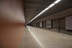 Empty subway station Stock Photo