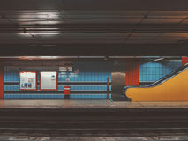 Empty Subway Station  Stock Images