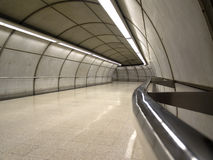 Empty subway station in Bilbao. Basque Country, Spain royalty free stock images