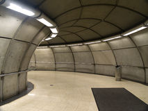Empty subway station in Bilbao. Basque Country, Spain stock photography