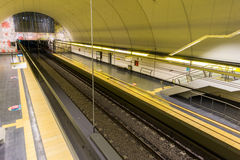 Empty subway station Royalty Free Stock Images