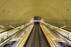 Empty subway station Royalty Free Stock Photography