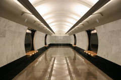 Empty subway station floor Royalty Free Stock Photography