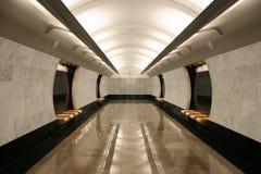 Empty subway station floor Royalty Free Stock Photography