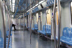 Empty subway train inside on Marmaray line in Istanbul Royalty Free Stock Image