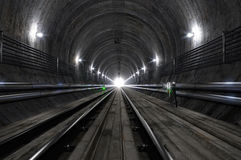 Empty Subway Tunnel Stock Image