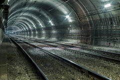 Empty Subway Tunnel Royalty Free Stock Photography