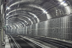 Empty Subway Tunnel Royalty Free Stock Image