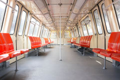 Empty subway wagon Royalty Free Stock Images