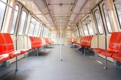 Empty subway wagon Royalty Free Stock Images
